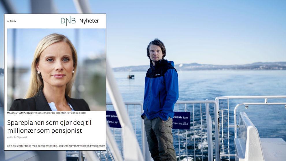 def64d25 KRITISK: Geir Ormseth i Forbrukerrådet mener DNB og Silje Sandmæl gir unge  høyrisikoråd.