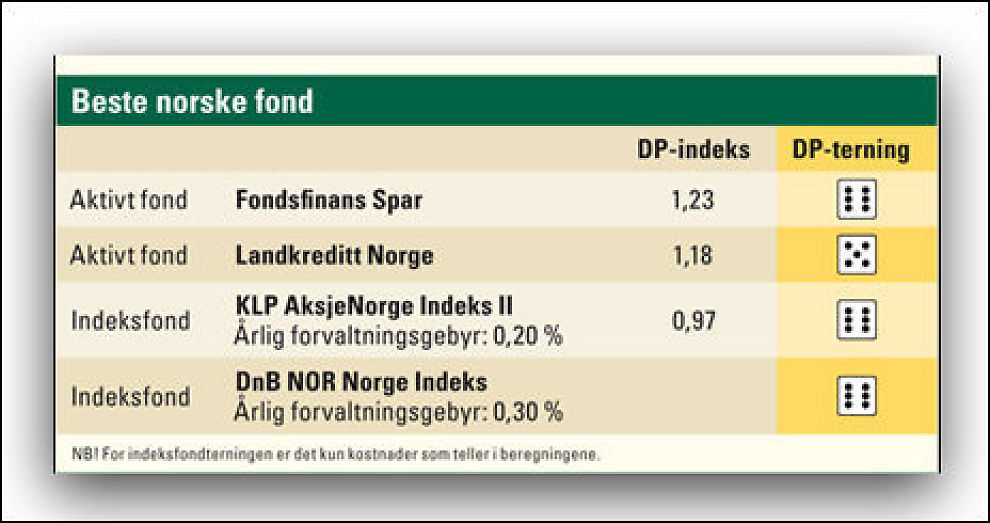 BEST: Disse fondene anbefaler Dine Penger dersom du vil ha pengene dine i norske aksjefond. Faksimile: Dine Penger