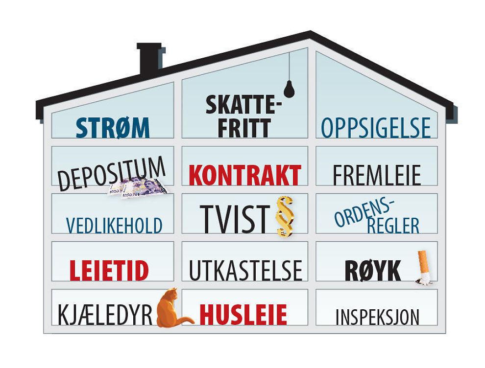 Mye å passe på: Utleie av bolig gir gode inntekter, men kan være et villniss av regler. Hvis man ikke passer på. Utleieskolen guider deg gjennom et trygt og godt leieforhold.