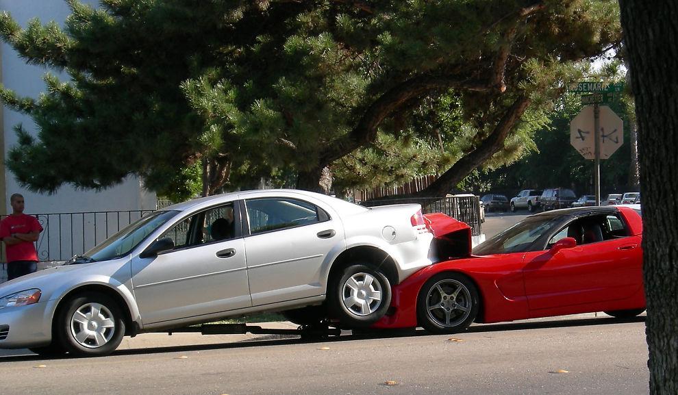 Krasjer hvert 10. år:Etterhvert som bilen blir mindre verdt vil det være lønnsomt for deg å gå over til delkasko.