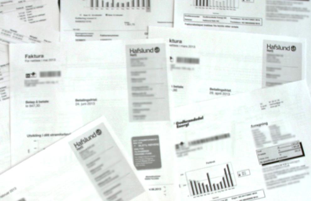 Regningene strømmer på: Fra både strømleverandør og netteier, kommer det en strøm av regninger gjennom året. Med Dine Pengers nye regneark, blir det enklere å regne ut hva leietaker skal betale for strømmen.