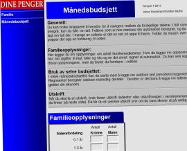Planleggingshjelp: I Dine Pengers budsjettmal legger du inn dine opplysninger, og får hjelp til å budsjettere for 2013. Du finner budsjettet her.