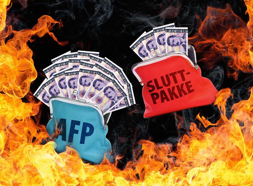 Pass på sluttpakkehelvete: Å si ja til sluttpakke kan bety nei til AFP, og det er ikke sikkert det er lurt. Les mer om hvordan du kan unngå dette.