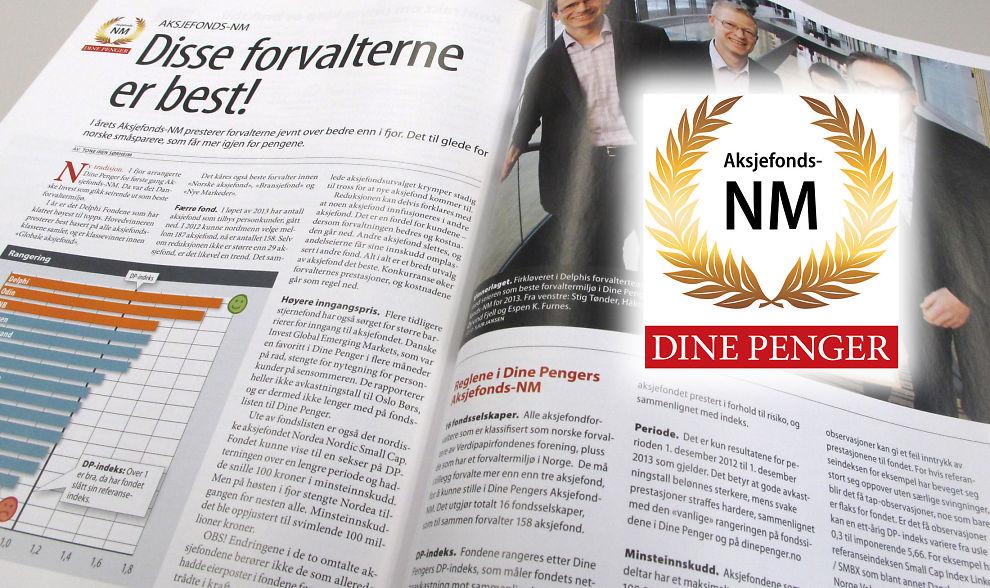 Fond-NM: Dine Penger kårer i nr 1-2014 de beste fondsforvalterne for 2013. Du finner alle artiklene i bladet for nedlasting (DP+), og vi presenterer vinnerne i dagene fremover.