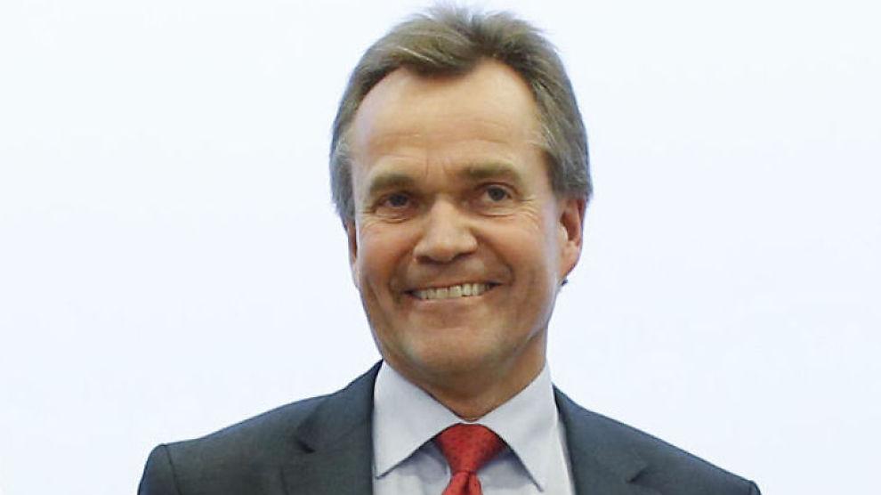 KONKURRANSE: Konsernsjef Finn Haugen i Sparebank 1 SMN forklarer rentenedsettelsen med konkurranse - og ikke gode resultater for banken.