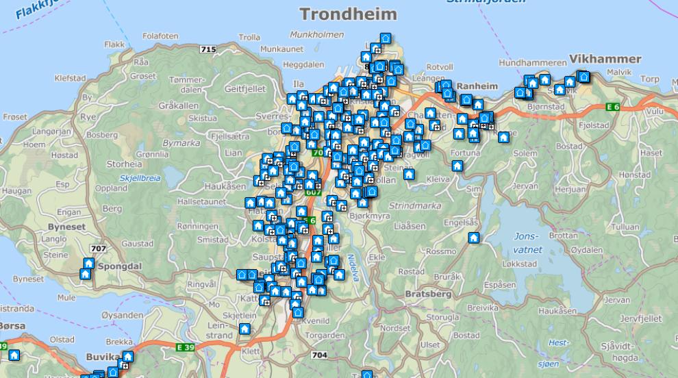 Så mange boliger ligger ute for salg i Trondheims-området i september 2015, ifølge Finn.no. Å bruke nettportalen er den mest praktiske måten å få oversikt over boligmarkedet i dag.