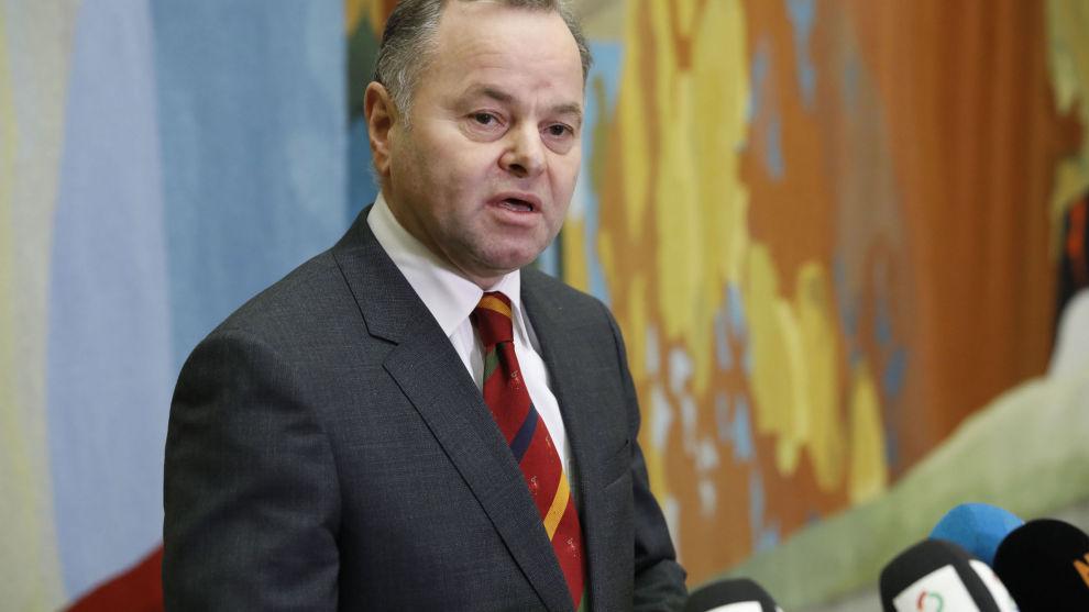 Stortingspresident Olemic Thommessen møtte pressen i forbindelse med valgkomiteens innstilling om nye medlemmer til Nobelkomiteen.