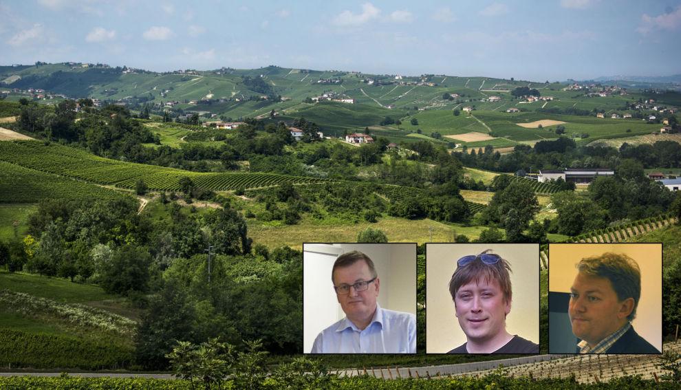SELGER VINAKSJER: Kjetil Blomvik, Leif Gudmund Vadset og André Sperre har det siste året markedsført aksjer i italienske vingårder og selskapet Vino Piemonte. Så langt er det bare trioen selv som har tjent penger på prosjektet.