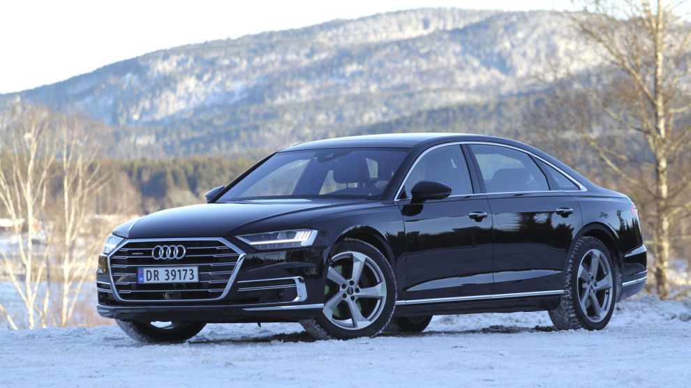 EN SEKSER: Audi A8, fjerde generasjon. 2018-modell.