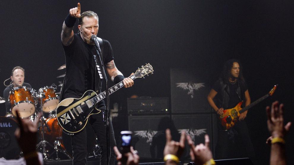 Metallica avbildet under en konsert i Los Angeles i 2008.