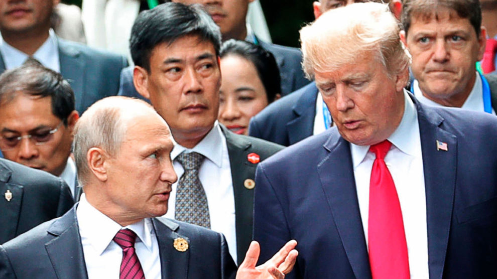 Russland sier de håper på dialog med USA til tross for at de står på hver sin side i konflikten i Syria. De to lederne møttes i november 2017.