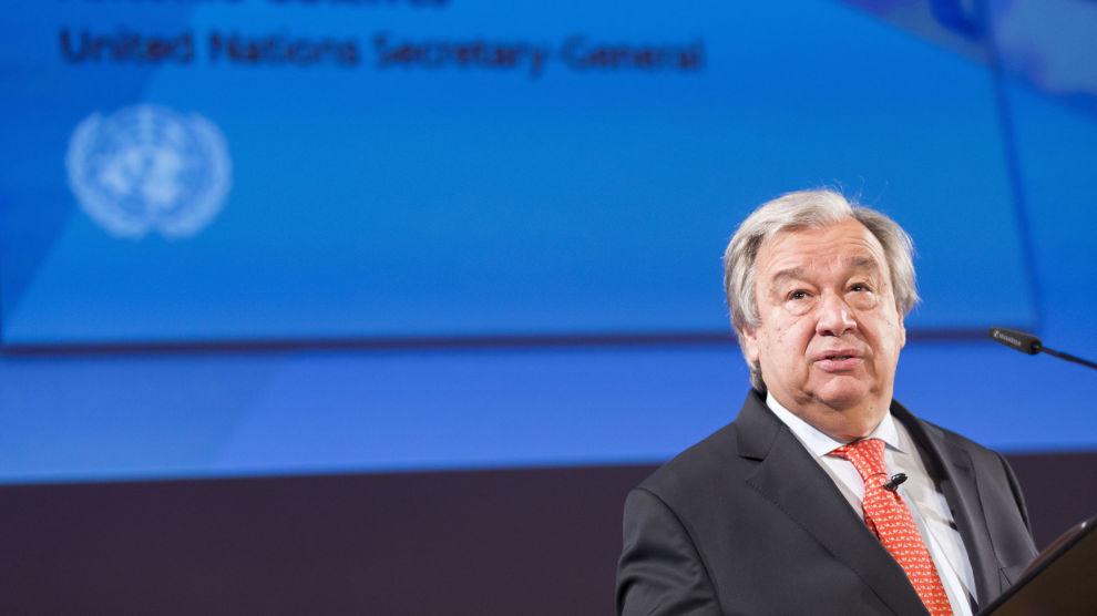 FN-sjef António Guterres omtaler Singapore-møtet som en milepæl.