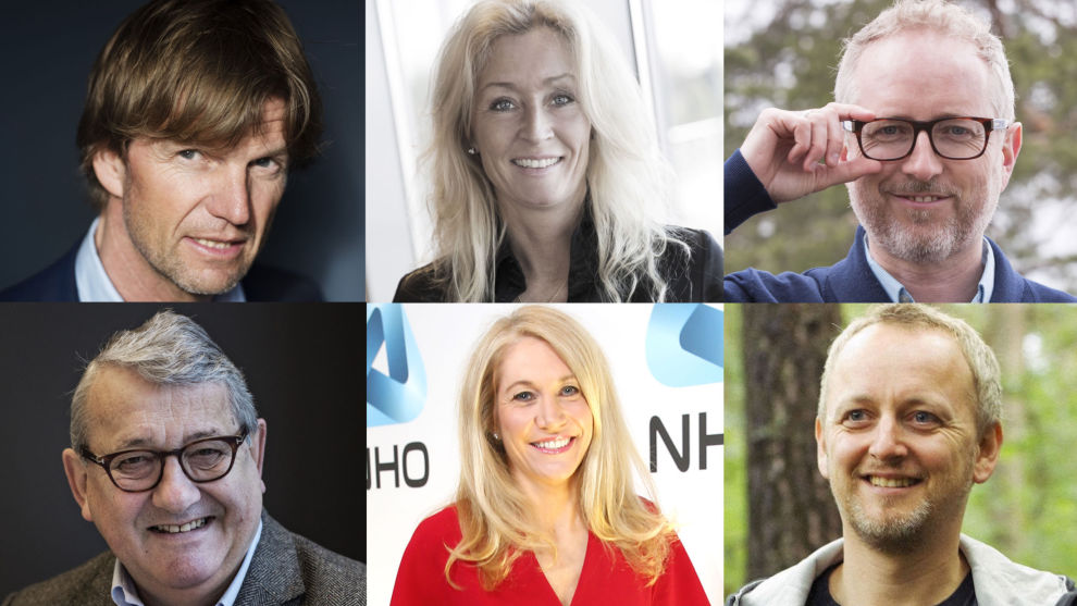 MIN FØRSTE JOBB: Bjørn Maaseide, Grethe Meier,Bård Vegar Solhjell , Per Kristian Foss, Julie Brodtkorb, Steinar J. Olsen.