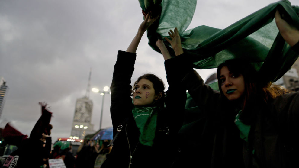 Abort-forkjempere har de siste dagene demonstrert i Buenos Aires.