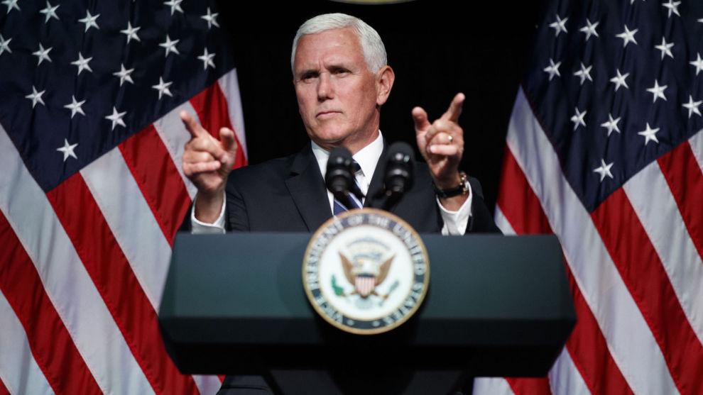 USAs visepresident Mike Pence har kunngjort planer om å opprette et eget romforsvar innen 2020.