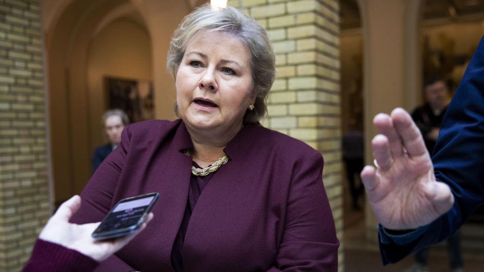 Når man lokalt sier unnskyld, så mener jeg at vi skal gjøre det fra alle myndighetssider, sa statsminister Erna Solberg.