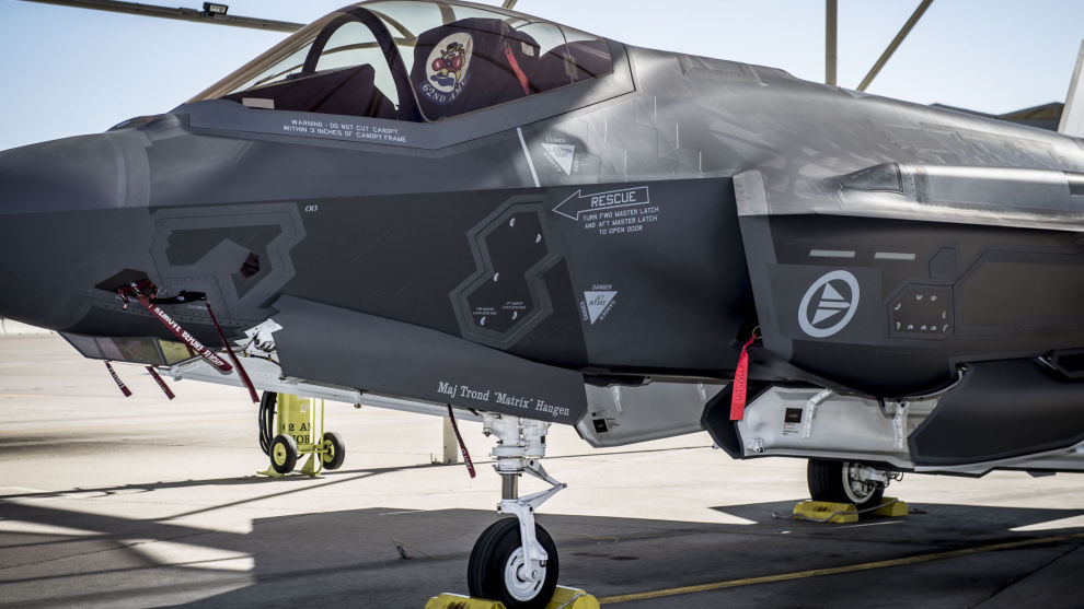 F-35 kampfly på Luke Air Force Base i Arizona i USA.