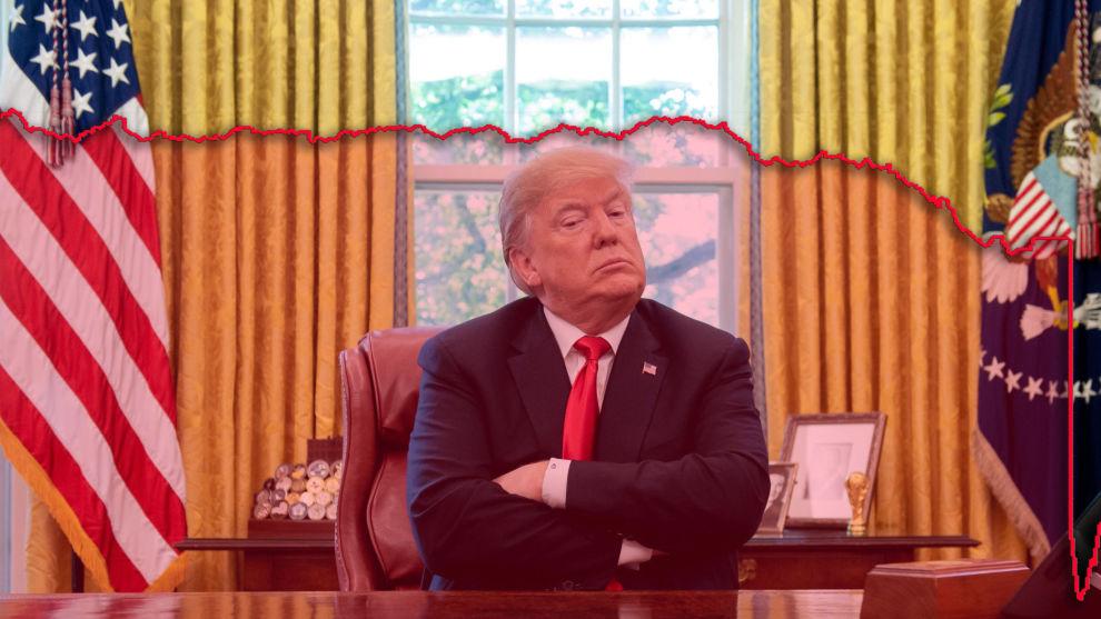 SKYLDET PÅ FED: Donald Trump antydet at børsfallet var utløst av rentehevingene fra Den amerikanske sentralbanken.