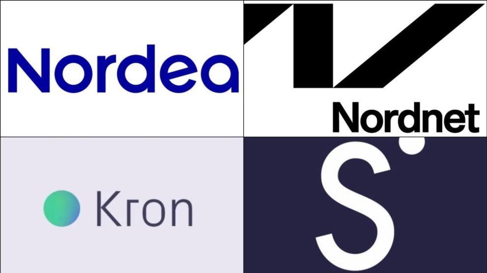 FIRE KONKURRENTER: Kron, Nordnet, Sbanken og Nordea, som er den siste i rekken, har alle lansert robotrådgivere for formuesforvaltning. Dine Penger mener én av dem skiller seg ut fra de andre.