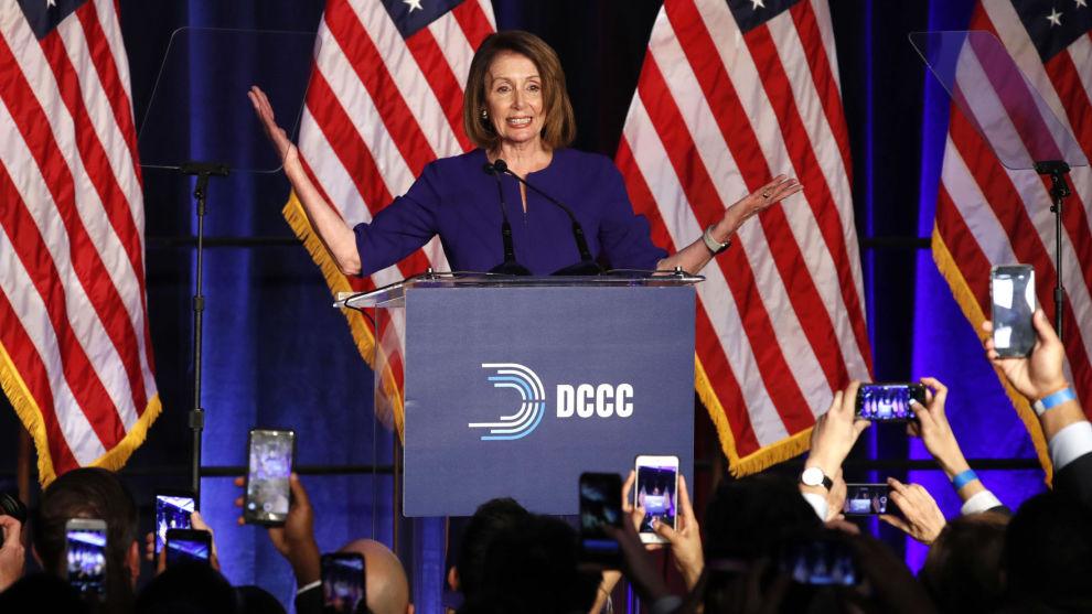Nancy Pelosi, Demokratenes gruppeleder i Representantenes hus, her på valgnatta.