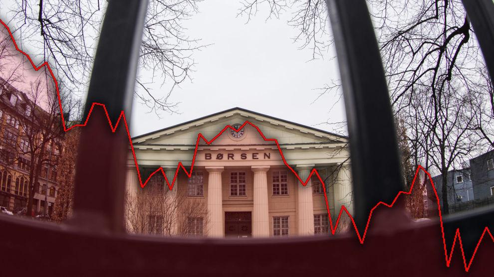 BØRSFALL: Siden 1. oktober har Hovedindeksen på Oslo Børs falt over 10 prosent. Flere investorer har redusert eksponeringen mot aksjemarkedet de siste månedene. De mener aksjene er for høyt priset.