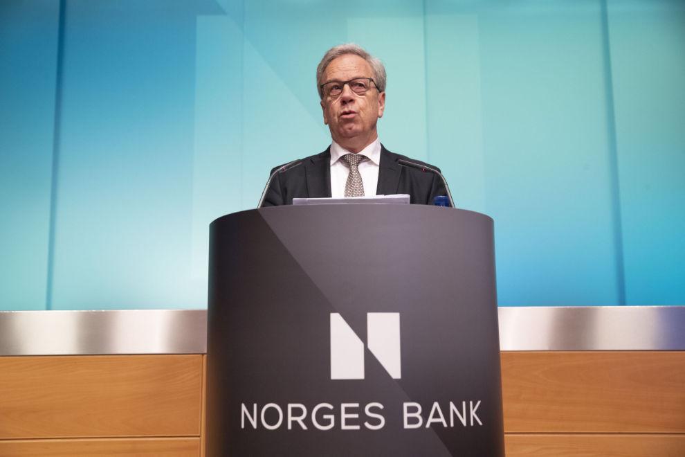 RENTEØKNING: Norges Bank, her representert ved sentralbanksjef Øystein Olsen, satte nylig opp styringsrenten fra 0,75 til 1 prosent, og varslet flere rentehevinger i løpet av de neste par årene.