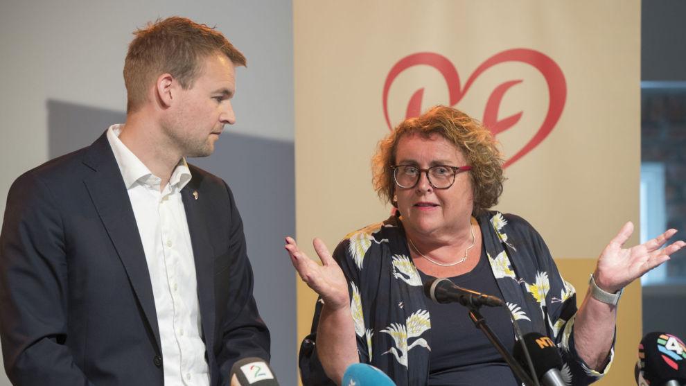 Nestleder Kjell Ingolf Ropstad og fungerende partileder Olaug Bollestad mener KrF har vært gjennom et av sine tøffeste halvår noensinne, men håper partiet kommer styrket ut av det på sikt.