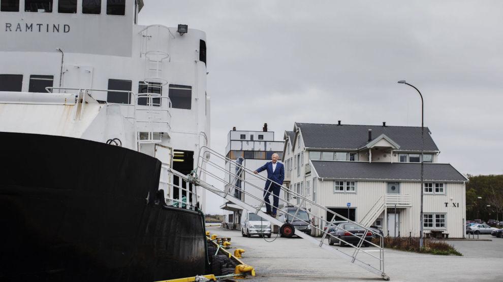 DER INGEN SKULLE TRU...: 30 år etter at han motvillig tok jobben, har Forbergskog gjort Torghatten til et av Nordens største transportselskaper. Kontorene sees bakerst på havna.