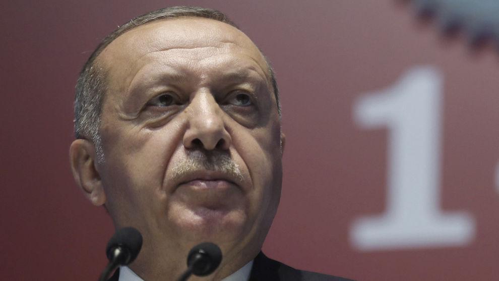 Tyrkias president Recep Tayyip Erdogan har fått et målrettet trusselbudskap i en ny IS-video. Foto: AP / NTB scanpix
