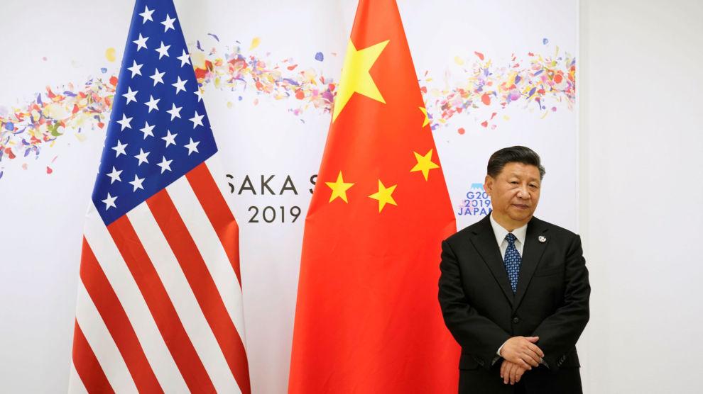 I TIDSNØD: Kinas president Xi Jinping venter på Donald Trump under G20-møtet i Osaka, i juni 2019.