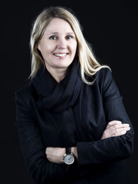 OPTIMIST: Janne Mette Bergesen, eiendomsmegler i Stavanger, tror på prisvekst.