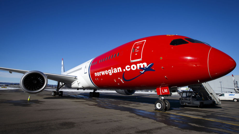 Et av Norwegians fly på Oslo lufthavn. Foto: Heiko Junge / NTB scanpix