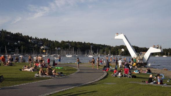 STERKT VEKST: Både i august og september har boligprisutviklingen i Asker og Bærum vært den sterkeste i landet. Her fra Kadettangen ved Sandvika i Bærum.
