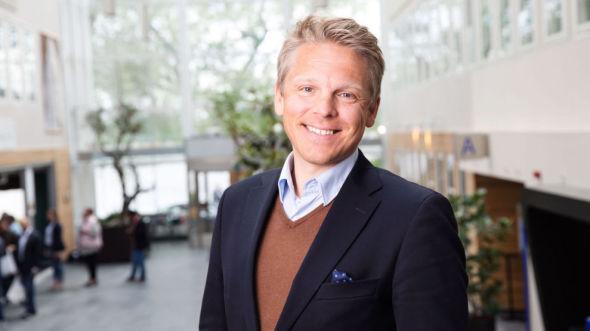 GODT FORNØYD: – Det er moro å kunne tilby sparere denne typen finansiell innovasjon, sier Anders Skar, daglig leder i Nordnet.