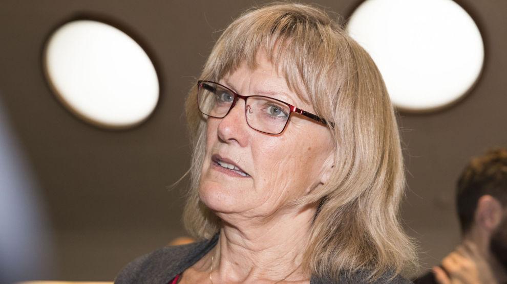 Karin Andersen sier at det kan bli aktuelt med mistillits forslag mot Anniken Hauglie. Foto: Terje Pedersen / NTB scanpix