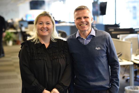 KLAR OPPFORDRING: Leder i AksjeNorge, Kristin Skaug og spareøkonom Bjørn Erik Sættem er samstemte i sin oppfordring til aksje- og aksjefondseiere om å flytte til ASK.