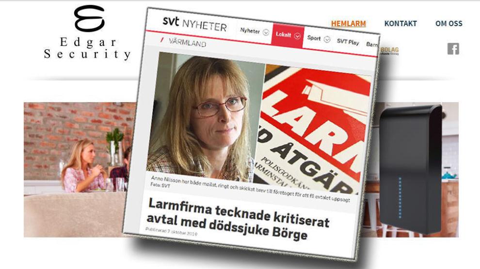 TIL NORGE: Edgar Security Sverige driver i dag med salg av innbruddsalarm og smarthjemløsninger. De siste ukene har selskapet gått under jorden på Facebook.