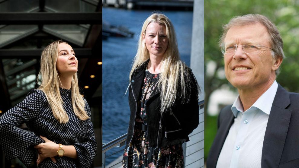 SER MOT NESTE ÅR: Nejra Macic i Prognosesenteret, Kari Due-Andresen i Handelsbanken og Peter Hermanrud i Sparebank 1 Markets er eksperter på henholdsvis boligmarkedet, makroøkonomi og Oslo Børs. De forventer for det meste et moderat 2020.