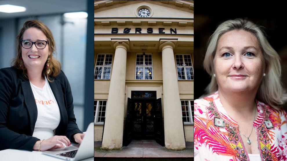 STORFORNØYDE: Beate Engelschiøn og Kristin Skaug jobbet begge hardt i fjor med å informere og engasjere kvinner som ville spare i aksjer, og nå har de fått lønn for strevet.