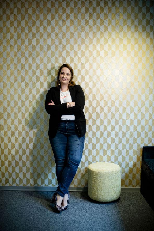 EVENTLOKALE: Beate Engelschiøn i workspacen DHUB i Sandefjord der hun i fjor holdt ett av flere økonomi-eventer for kvinner.