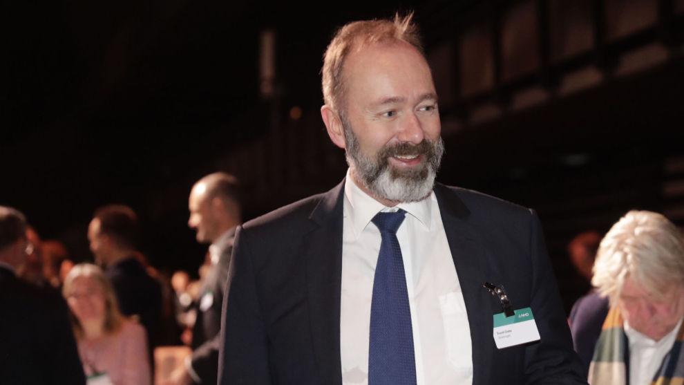 Trondheim Arbeiderparti foreslår Trond Giske som ny fylkesleder i Trøndelag. Her er Giske under NHOs årskonferanse. Arkivfoto: Berit Roald / NTB scanpix