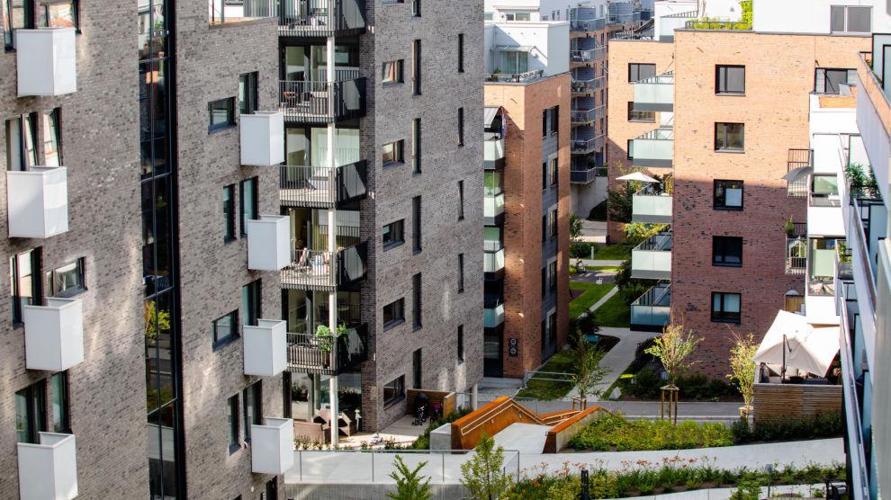 BILLIGERE Å LÅNE: På bildet ser vi boligbebyggelse i Kværnerbyen i Oslo. Foto: Audun Braastad / NTB scanpix