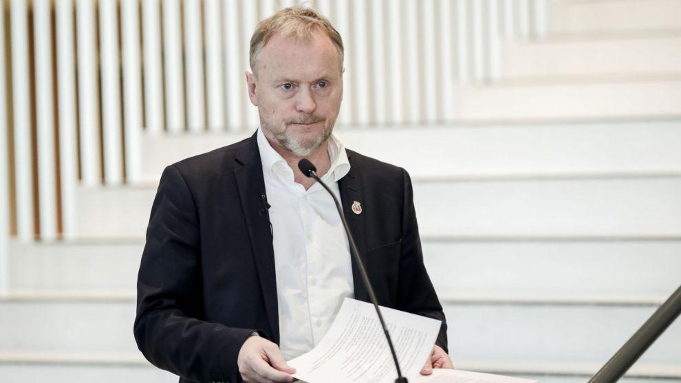 Byrådsleder Raymond Johansen varsler at skoler og barnehager i Oslo kan forbli stengt. Foto: Vidar Ruud / NTB scanpix