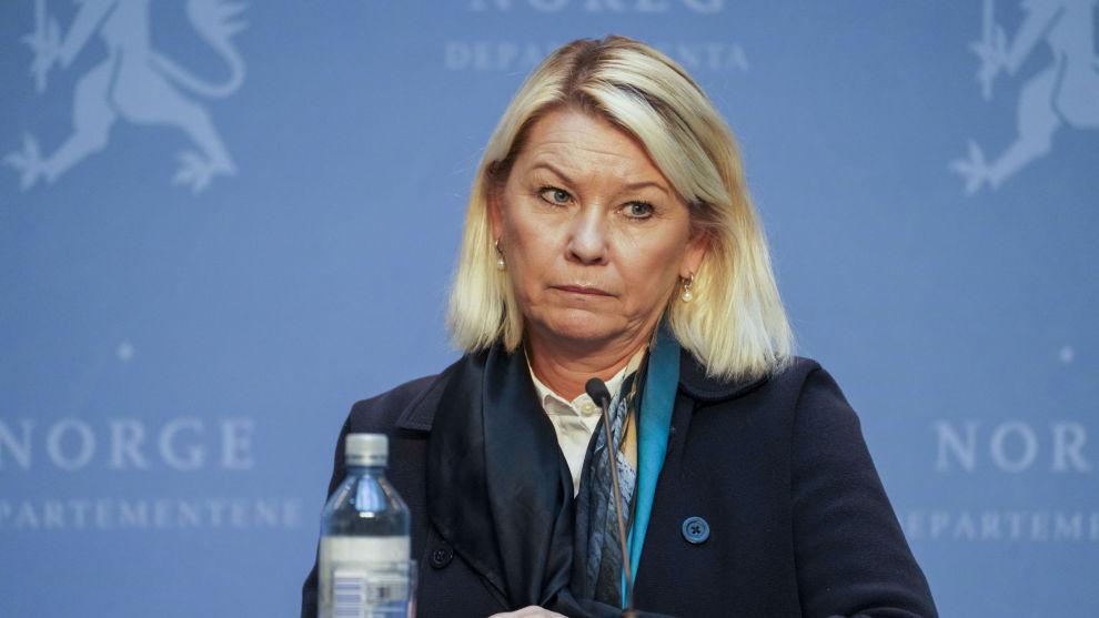 Justis- og beredskapsminister Monica Mæland (H) er lunken til ideen om å offentliggjøre hvilke bedrifter som mottar krisestøtte, og hvor mye de får. Foto: Ole Berg-Rusten / NTB scanpix