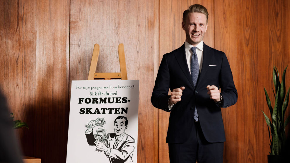 EKSPERT: Christian Kallevig Arnesen er partner og senior formuesforvalter hos Finansco, og har bidratt med sin ekspertise på formuesskatt.