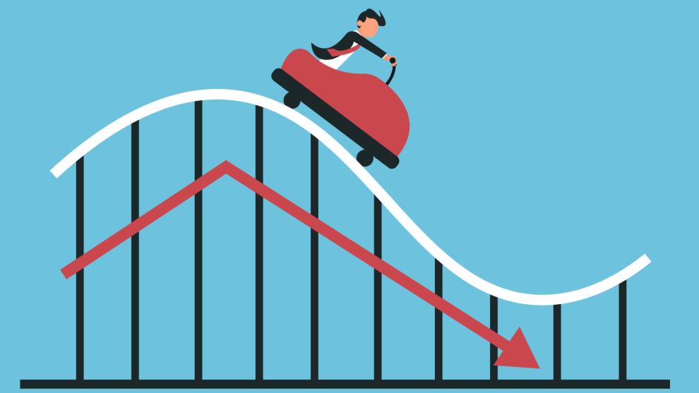 BERG- OG DALBANE: Aksjemarkedet kan ofte fortone seg som en skrekkelig tur i en berg- og dalbane.