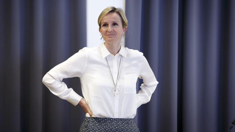Equinor-konserndirektør Irene Rummelhoff vil satse på produksjon av blått hydrogen i Storbritannia. Foto: Heiko Junge / NTB scanpix