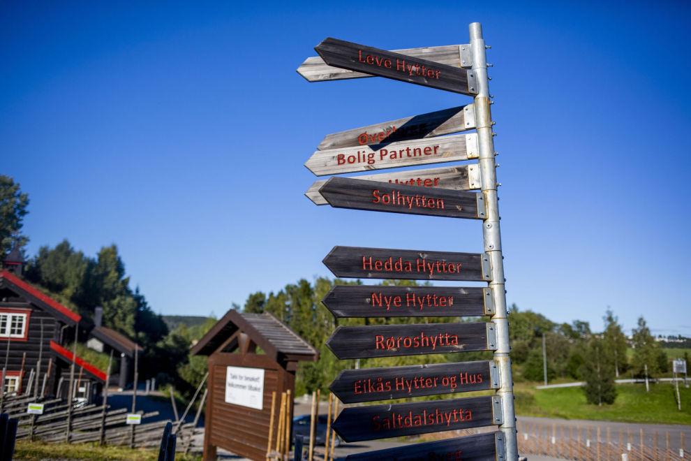 HVER SIN SMAK: Det er mange hyttetyper å velge mellom på visingsområdet på Hellerudsletta.