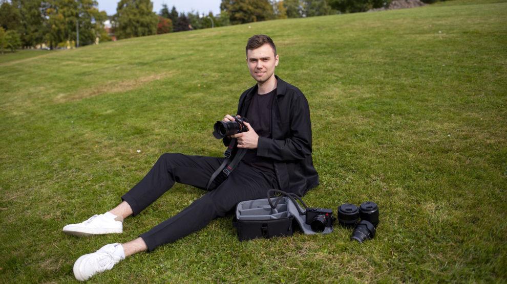 UTLEIER: De som leier foto- og lydutstyr hos Christian Lunde er godt fornøyd med både prisen og fleksibiliteten han tilbyr.