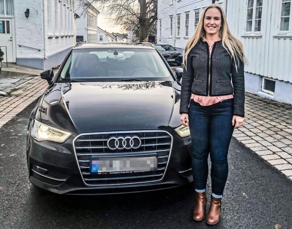 SPAREDRØM: I løpet av 2020 kunne Annicken ved hjelp av effektiv sparing gå til innkjøp av en Audi A3.